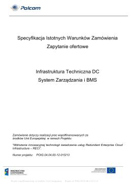 Specyfikacja Istotnych Warunków Zamówienia (SIWZ)