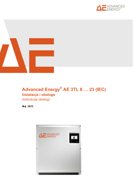 Advanced Energy AE 3TL 8 … 23 (IEC)