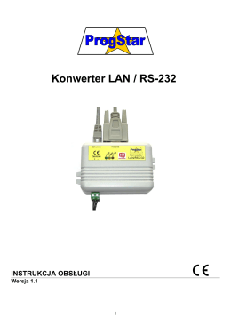 Instrukcja obsługi konwertera LAN/RS-232