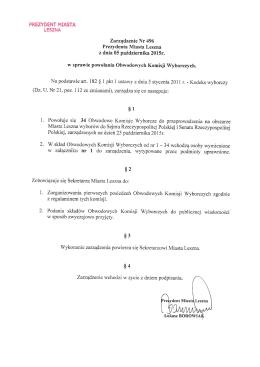 Składy Obwodowych Komisji Wyborczych