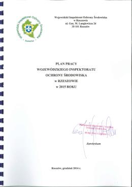 Rok: 2015 - Wojewódzki Inspektorat Ochrony Środowiska w