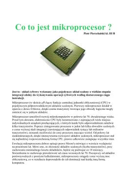 Co to jest mikroprocesor ?