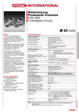 Elektroniczny Przekaźnik Ciśnienia EDS 3400 z