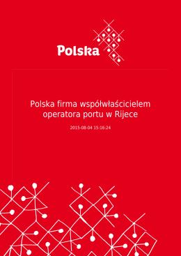 Polska firma współwłaścicielem operatora portu w Rijece