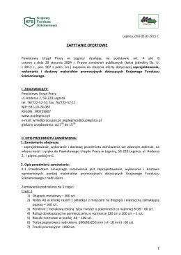 ZAPYTANIE OFERTOWE - Powiatowy Urząd Pracy w Legnicy