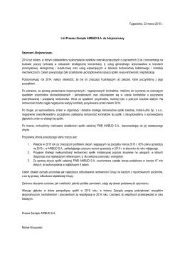 List Prezesa Zarządu 2012 pobierz