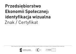 Katalogu identyfikacji wizualnej Znaku