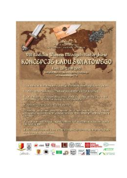 rogram konferencji - Studenckie Koło Naukowe Historyków