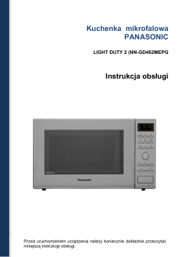 Kuchenka mikrofalowa PANASONIC Instrukcja obsługi