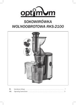 instrukcja obslugi RKS-2100 - Optimum