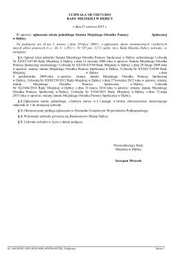 Uchwała nr 71/2015 - Urząd Miejski w Dębicy