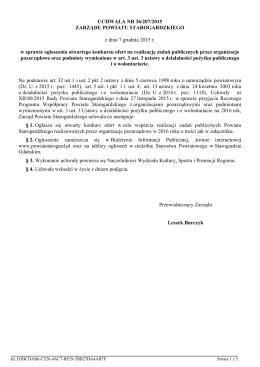 Uchwala Nr 36/207/2015 z dnia 7 grudnia 2015 r.