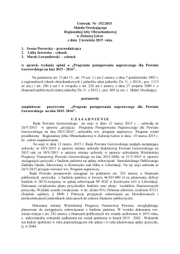 Uchwała Nr /08 - Regionalnej Izby Obrachunkowej w Zielonej Górze