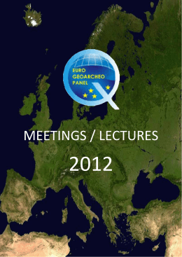 meetings / lectures - Wydział Nauk Geograficznych i Geologicznych