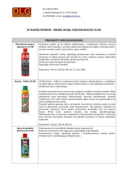 Produkty CX-80 - DLG Industries