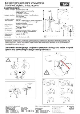 Elektroniczna armatura umywalkowa Saniline Dolphin z
