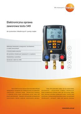 Elektroniczna oprawa zaworowa testo 549