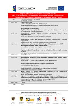 Program konferencji WROF