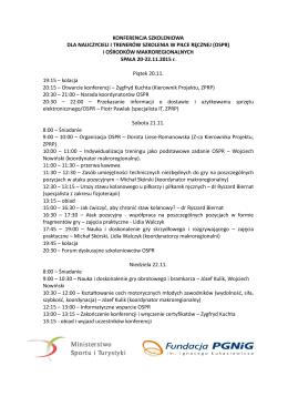 program konferencji szkoleniowej