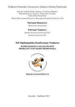 Program Konferencji 2015  - Środkowo