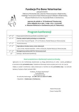 Program konferencji - Północno