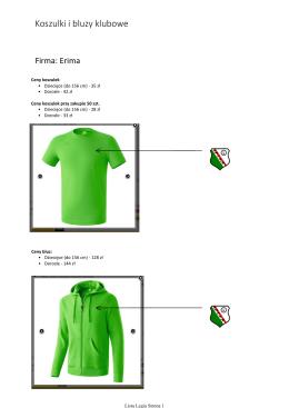 Koszulki i bluzy klubowe