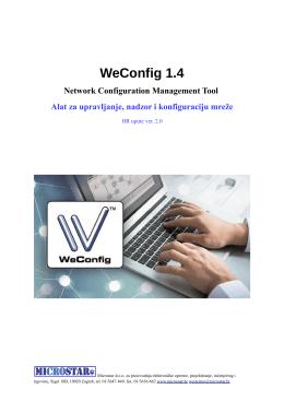 WeConfig korisničke upute (, hrv, 1,10 MB)