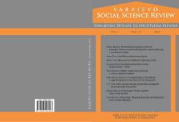 Sarajevo Social Science Review 2015 – online izdanje