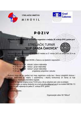 29.05.2016. - Kup grada Čakovca pištoljem VK, poziv