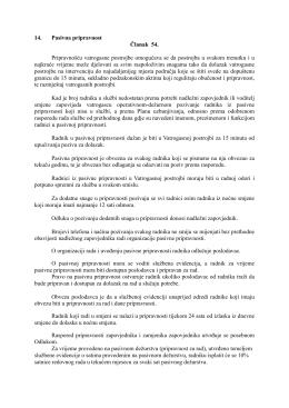Izvod iz Pravilnika o radu Javne vatrogasne postrojbe Grada Bjelovara
