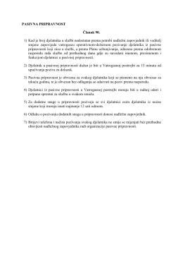 Izvod iz Pravilnika o vatrogasnoj službi i rasporedu rada u Javnoj