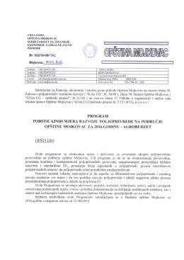 Program - Mojkovac