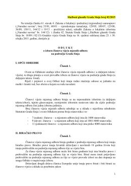 Odluka o izboru članova vijeća mjesnih odbora na području