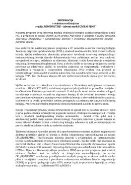 izborni modul CIVILNI PILOT Nastavni program ovog izbornog