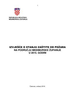 izvješće o stanju zaštite od požara na području međimurske