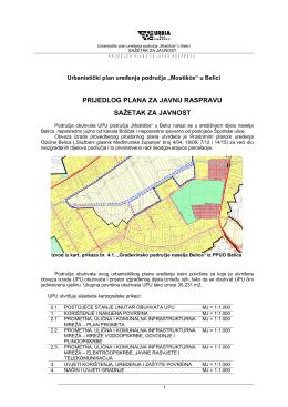 UPU_Belica_Mostišće_sažetak za javnost