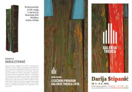 darija stipanić izložbeni program galerije trojica 2016.
