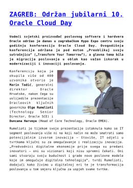 ZAGREB: Održan jubilarni 10. Oracle Cloud Day
