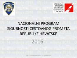 nacionalni program sigurnosti cestovnog prometa republike