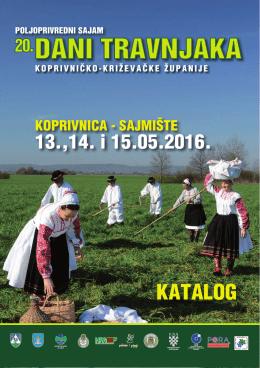 KATALOG Dani Travnjaka 2016 - Koprivničko
