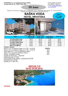 AKCIJA-Baška Voda-hotel Hrvatska