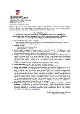 Informacija – zahtjev za prethodnu ocjenu - Brodsko