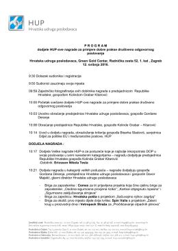 program - Hrvatska udruga poslodavaca