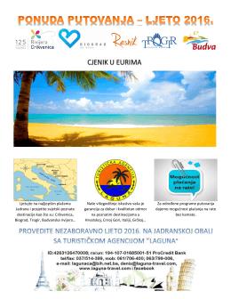 Ljetujte na najljepšim plažama Jadrana i posjetite svjetski poznate