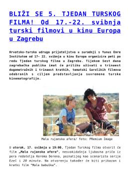 BLIŽI SE 5. TJEDAN TURSKOG FILMA! Od 17.-22
