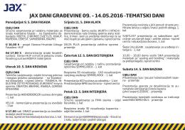 JAX DANI GRAĐEVINE 09. – 14.05.2016