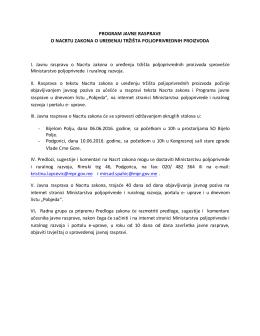 Program javne rasprave o Nacrtu zakona o