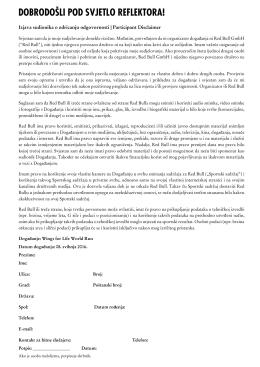 Izjava o odricanju odgovornosti
