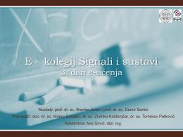 E – kolegij Signali i sustavi