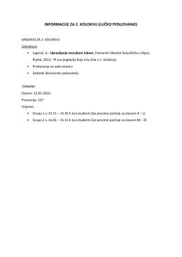 informacije za 2. kolokvij (lučko poslovanje)